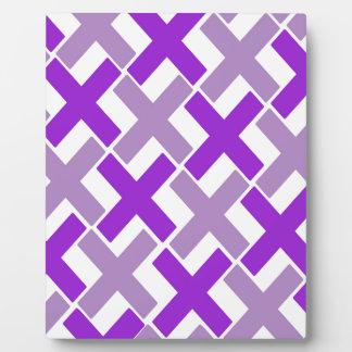 Purple and Lavender Xs Plaque