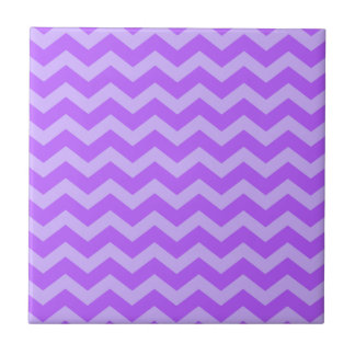 Purple and Lavender Zigzags Small Square Tile