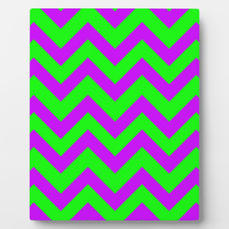 Purple And Light Green Chevrons Plaque