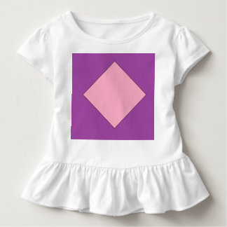 purple and light pink diamond Toddler Ruffle Tee