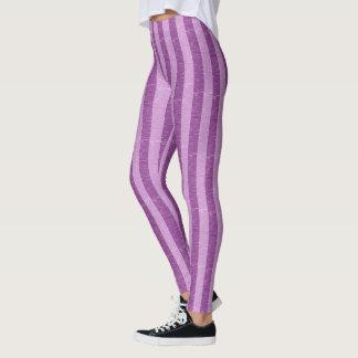 Purple and Light Purple Stripes Leggings