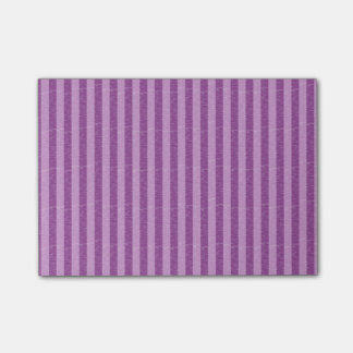 Purple and Light Purple Stripes Post-it Notes