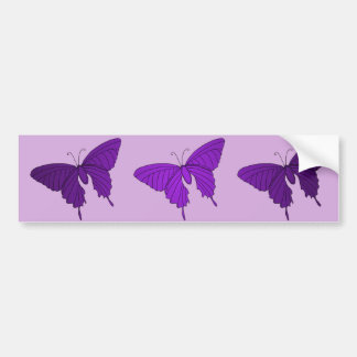 Purple and Lilac Butterfly Lavender Violet Bumper Sticker