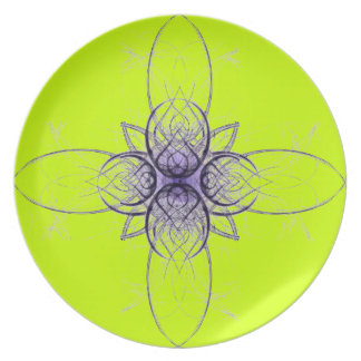Purple and Lime Abstract by Alexandra Cook Plate