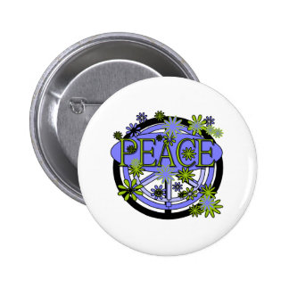Purple and Lime Peace 6 Cm Round Badge