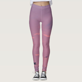 Purple and Magenta Sky Leggings