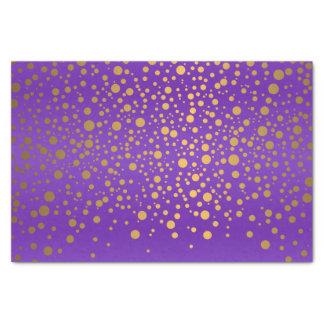 Purple and Metallic Gold Confetti Tissue Paper