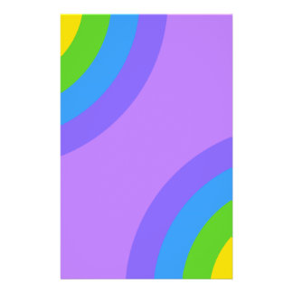 Purple and Multicolor Abstract Flyer