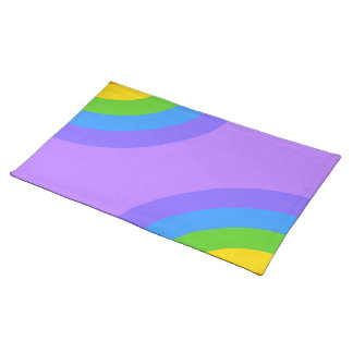Purple and Multicolor Abstract. Placemat