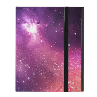 Purple and Navy Galaxy and Stars iPad Folio Case