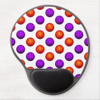 Purple and Orange Basketball Pattern Gel Mouse Mat