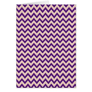 Purple and Orange Chevron Stripes Zip Zag Pattern Greeting Card