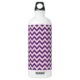 Purple and Orange Chevron Stripes Zip Zag Pattern SIGG Traveller 1.0L Water Bottle