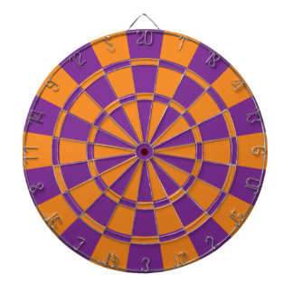 Purple And Orange Dart Boards
