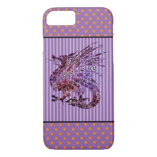 Purple and Orange Dragon Phone Case