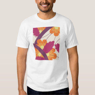Purple and Orange Floral Pattern Tshirt