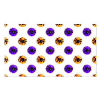 Purple and Orange Halloween Cookie Pattern Business Cards