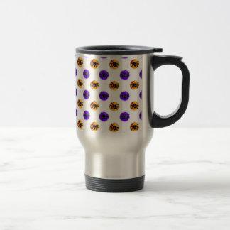 Purple and Orange Halloween Cookie Pattern Mug