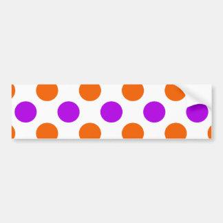 Purple and Orange Polka Dots Bumper Sticker