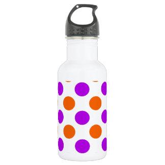 Purple and Orange Polka Dots 532 Ml Water Bottle