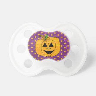 Purple and Orange Pumpkin Halloween  Baby Pacifier