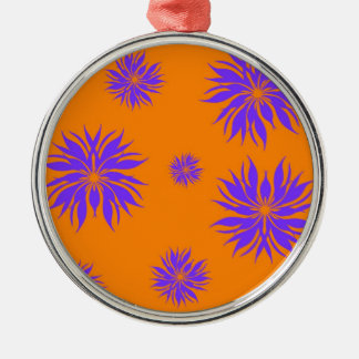 purple and orange Silver-Colored round decoration
