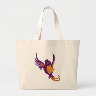 Purple and Orange Swallow Canvas Bags