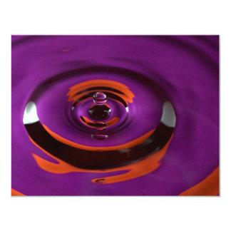 Purple and Orange Water Drop 11 Cm X 14 Cm Invitation Card