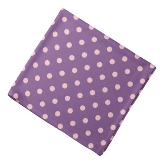 Purple And Pastel Pink Polka Dot Pattern Do-rags