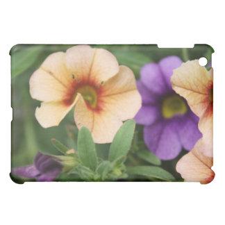 Purple and Peach Flowers iPad Mini Cases