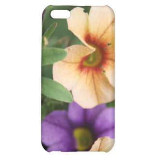 Purple and Peach Flowers Cover For iPhone 5C