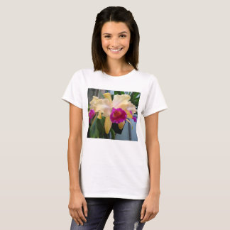 Purple and Peach Orchid T Shirt