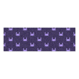Purple and Periwinkle crab pattern Pack Of Skinny Business Cards