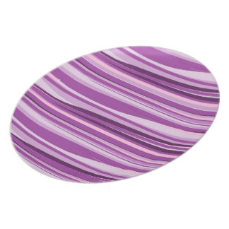 Purple and Pink Abstract Dinner Plate