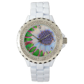 Purple and Pink African Daisy Fine Art Watch