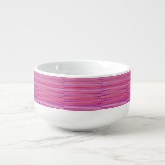 Purple and Pink Brushstrokes Print Soup Bowl