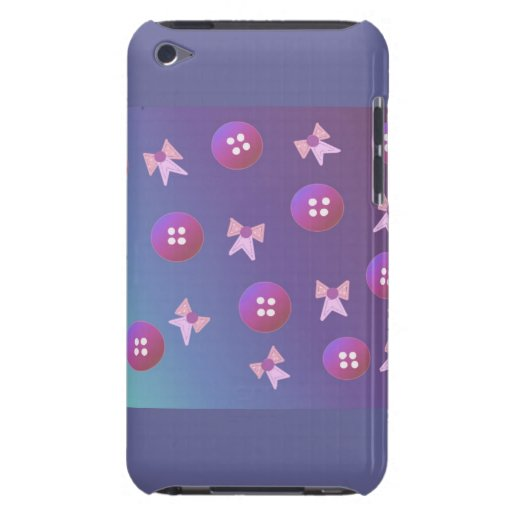 Purple and Pink Buttons and Bows Barely There iPod Covers