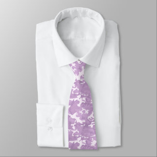 Purple and Pink Camo Patterned Tie