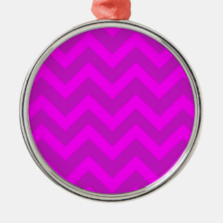 Purple And Pink Chevrons Christmas Ornament