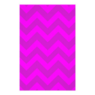 Purple And Pink Chevrons Customized Stationery