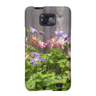 Purple and Pink Columbines Galaxy SII Cases