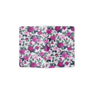 Purple and Pink Country Flower Print Passport Holder