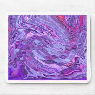 Purple and Pink Creative Lines Abstract Design Mouse Pad