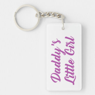 Purple and Pink Daddys Little Girl Key Ring