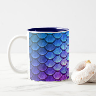 Purple and Pink Dragon Scale Fantasy Mug
