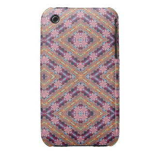 Purple and Pink Floral Abstract iPhone 3 Case