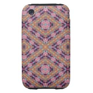 Purple and Pink Floral Abstract Tough iPhone 3 Cover