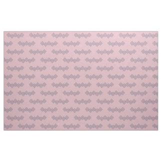 Purple and Pink Floral Border Fabric