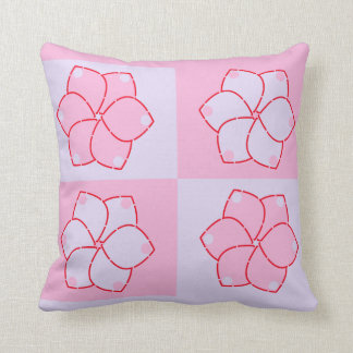 Purple and pink flowers pillow