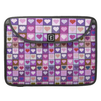 Purple and Pink Heart Squares Macbook Pro case